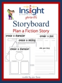 Write a Fiction Story -Storyboard for Planning & Lined Wri