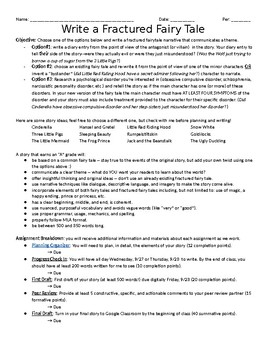 Write a Fractured Fairy Tale -- EDITABLE