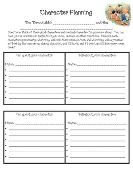 Write a Fractured Twisted Fairy Tale, The Three Little Pigs