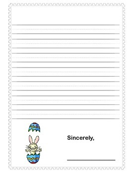 Write a Friendly Letter to the Easter Bunny!