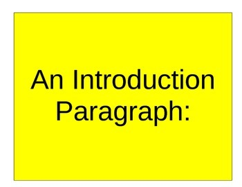 Write a Great Introductory Paragraph for an Argument Essay