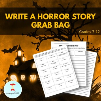 Halloween Writing Activity: Write A Horror Story Grab Bag