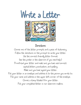 Write a Letter - Literacy Center