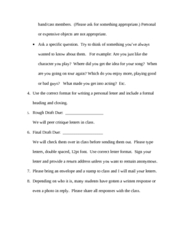 Write a Letter to a Celebrity - letter writing