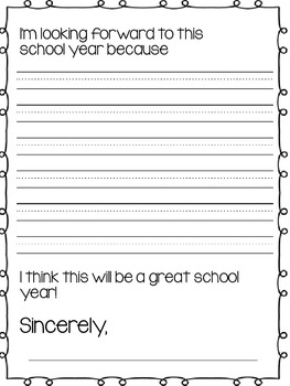 Back to School: Write a Letter to a Friend About the First Day of School