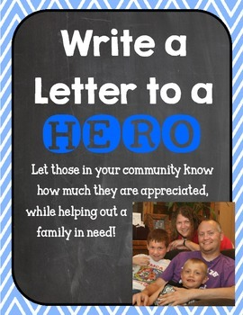 Write a Letter to a HERO! Including Police, Firefighters, and Military