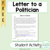 Write a Letter to a Politician Activism Biology Environmen