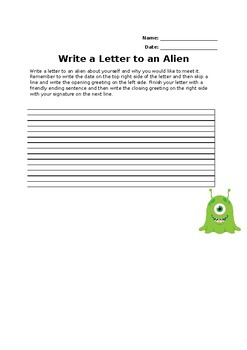 Write a Letter to an Alien