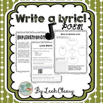 Write a Lyric Poem!