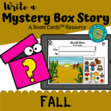 Write a Mystery Box Story: Fall (Boom Cards™)