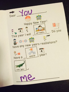 FREE New Years Card / Resolutions: Differentiated for your Special Ed Class