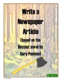 Write a Newspaper Article (based on Hatchet novel)