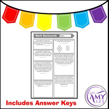 Write a Number Sentence - Problem Solving PowerPoint, Task Cards and Worksheet