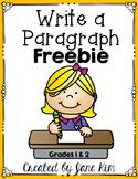 Write a Paragraph FREEBIE-Grades 1 and 2