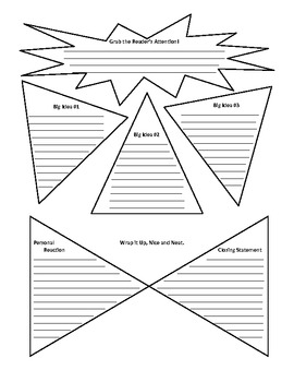 Write a Paragraph Graphic Organizer