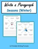 Write a Paragraph - Seasons (Winter) - Print + Digital Activity