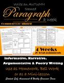 Paragraph a Week: Argumentative, Narrative, Informative & Poetry Bundle