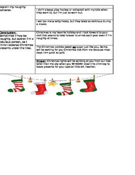 Write a Persuasive/Opinion Friendly Letter to Santa