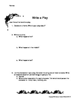 Write a Play Outline