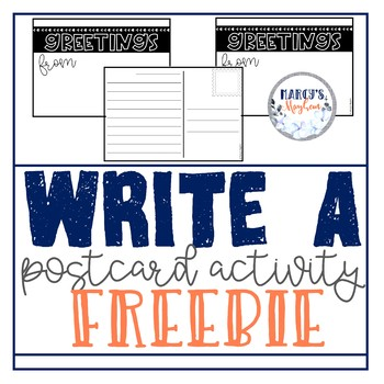 Write a Postcard FREEBIE