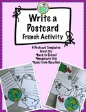 Write a Postcard FRENCH Writing Activity