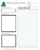 Write a Recipe Graphic Organizer (dysgraphia, elementary,