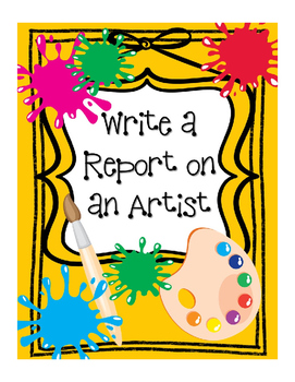 Graphic Organizer Report on an Artist - For Elementary Students
