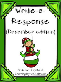 Write-a-Response December Edition