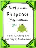 Write-a-Response May Edition