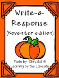 Write-a-Response November Edition