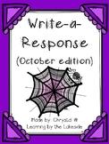 Write-a-Response October Edition