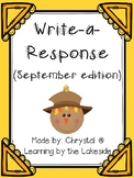 Write-a-Response September Edition