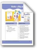 Write a Rhyme (File Folder Center)