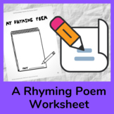 Social and Emotional Learning Writing Prompt: Write a Rhym