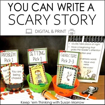 Halloween Writing Center: Write a Scary Story