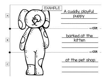 Write-a-Sentence Animal Flip Book