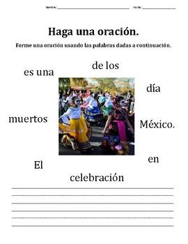 Write a Sentence: Día de Los Muertos -