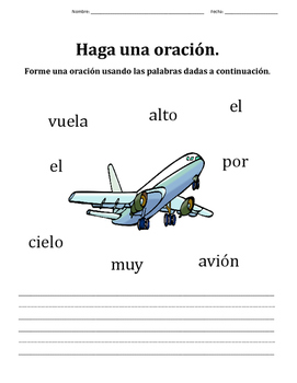 Write a Sentence in Spanish