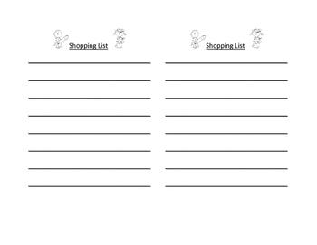 Write a Shopping List