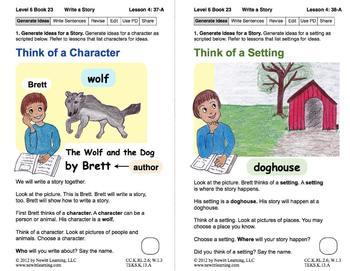Write a Story: Lesson 4, Book 23 (Newitt Writing Series)