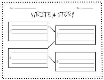 """Write a Story!"" Template / Graphic Organizer"