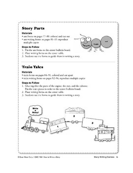 Write a Story! Train Tales Bulletin Board