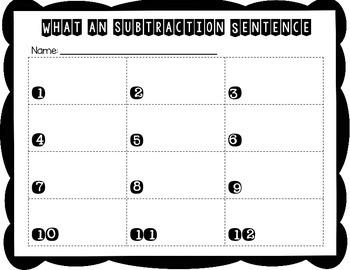 Write a Subtraction Sentence:  Domino Math