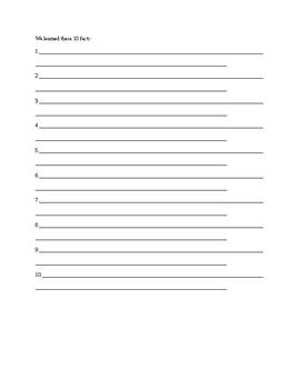 Write a Summary