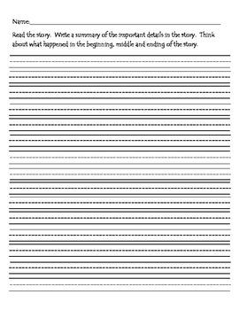 Write a Summary Worksheet