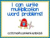 Write a Word Problem (Multiplication)