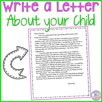 Write a letter about your child