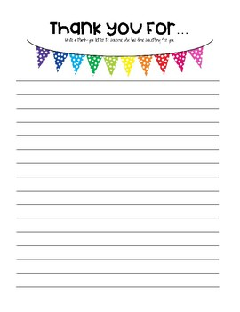 Write a letter thanking someone for something ~Creative Writing