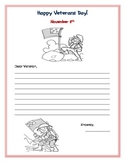 Write a letter to a veteran! Veterans Day writing Activity, being thankful