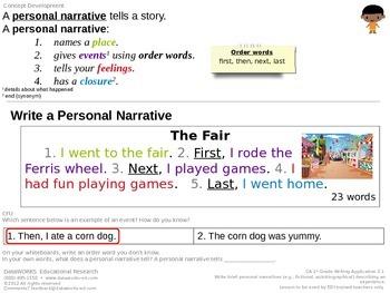 Write a Personal Narrative